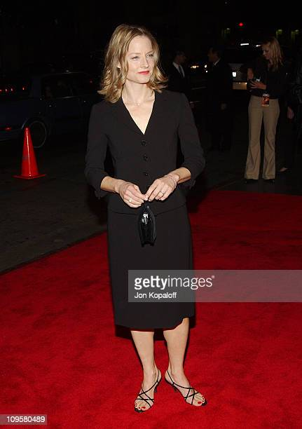 Jodie Foster during 2004 AFI Film Festival 'A Very Long Engagement' Arrivals at Grauman's Chinese Theatre in Hollywood California United States