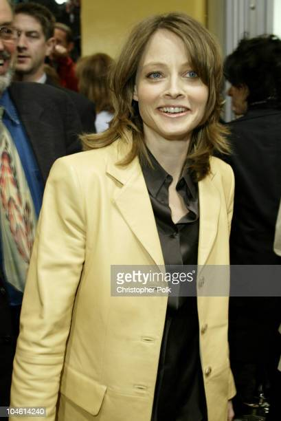 Jodie Foster during Adaptation Premiere at Mann Village in Hollywood CA United States