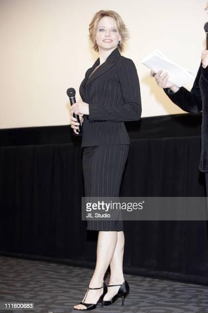 Jodie Foster during 'Flightplan' Tokyo Premiere Inside at Virgin TOHO Cinemas Roppongi Hills in Tokyo Japan
