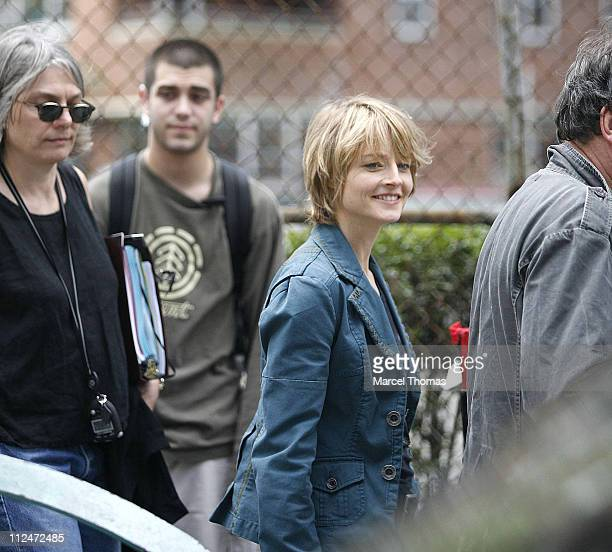 Jodie Foster during Jodie Foster on Set of 'The Brave One' June 9 2006 at FDR Drive Drawbridge in New York City New York United States
