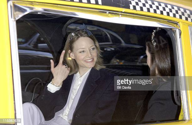 Jodie Foster during Jodie Foster Out and About in New York City New York United States