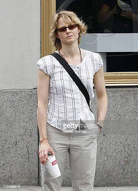 Jodie Foster during Jodie Foster Sighting in New York City June 4 2006 at SoHo in New York New York United States