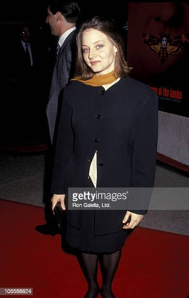 Jodie Foster during 'Silence of the Lambs' Los Angeles Premiere Red Carpet at Cineplex Odeon in Century City California United States