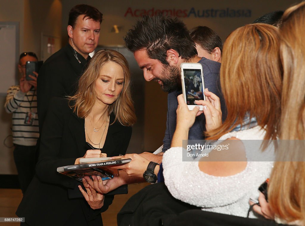 Jodie Foster greets fans ahead of the Money Monster Australian Premiere at Event Cinemas George Street on May 30, 2016 in Sydney, Australia.