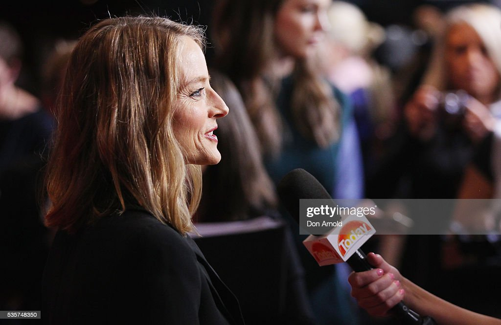 Jodie Foster is interviewed ahead of the Money Monster Australian Premiere at Event Cinemas George Street on May 30, 2016 in Sydney, Australia.