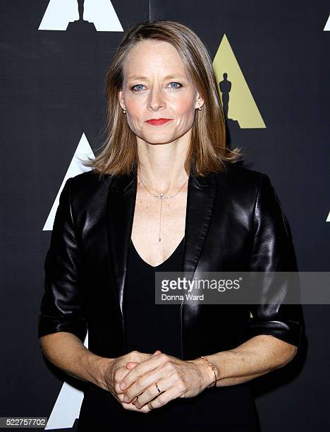 Jodie Foster poses as The Academy Museum Presents 25th Anniversary Event Of 'Silence of the Lambs' at The Museum of Modern Art on April 20 2016 in...