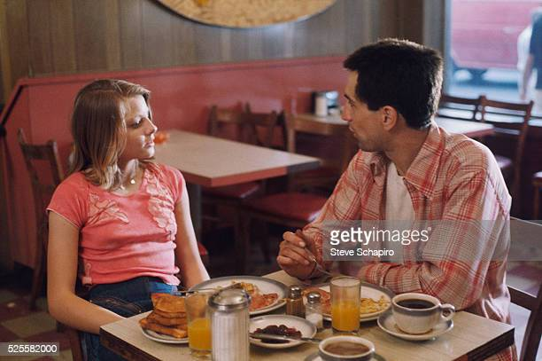 Jodie Foster shares breakfast in a diner with Robert De Niro in Martin Scorsese's Taxi Driver