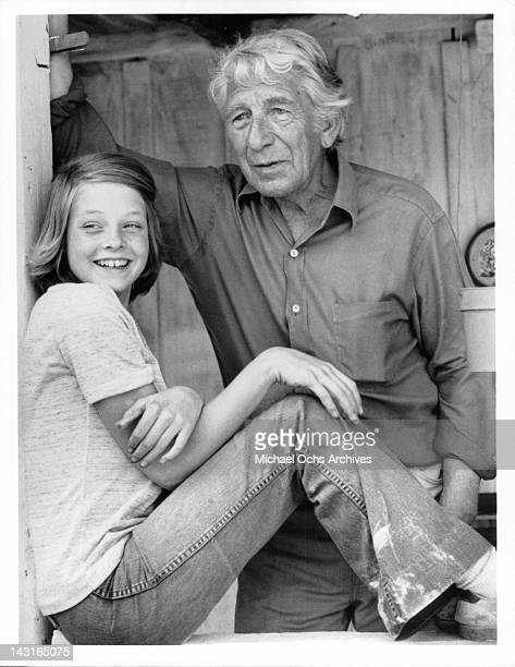 Jodie Foster smiling with Eduard Franz standing beside her in a scene from the television episode 'The Secret Life Of TK Dearing' from the ABC...