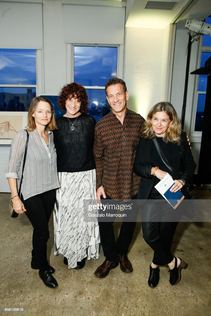 Jodie Foster, Teri Jankowski, Michael Daube and Susan Lyall during the CITTA Fest 2017 Fall Benefit at Tribeca Skyline Studios on October 5, 2017 in New York City.