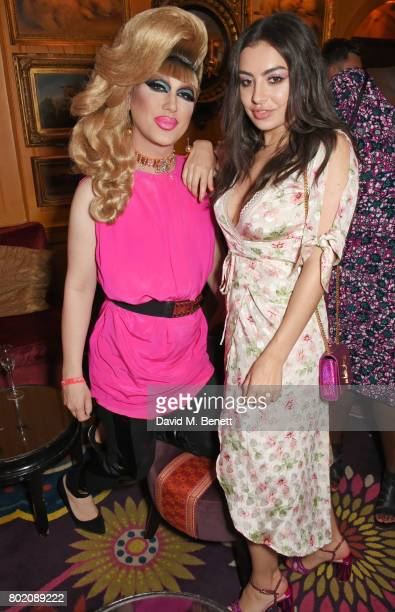 Jodie Harsh and Charli XCX attend the Rita Ora dinner and performance at Annabel's on June 27 2017 in London England