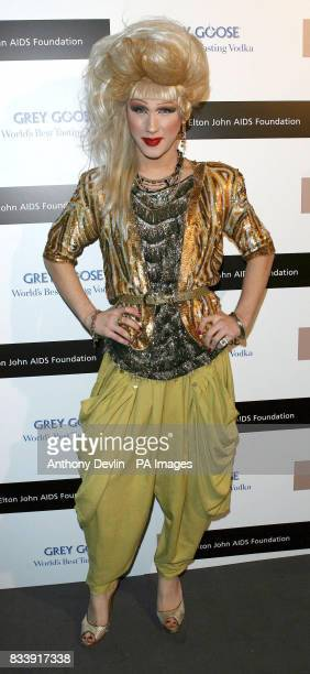 Jodie Harsh arrives at the Grey Goose Vodka and The Elton John AIDS Foundation VIP launch party One Piazza Covent Garden London