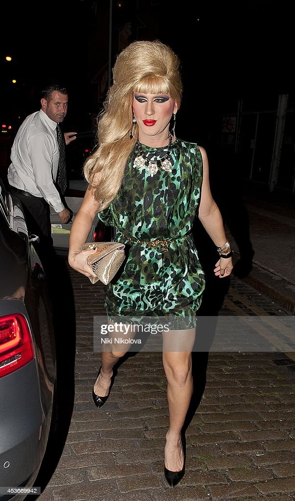 Jodie Harsh is seen arriving at Shorditch House on August 15, 2014 in London, England.