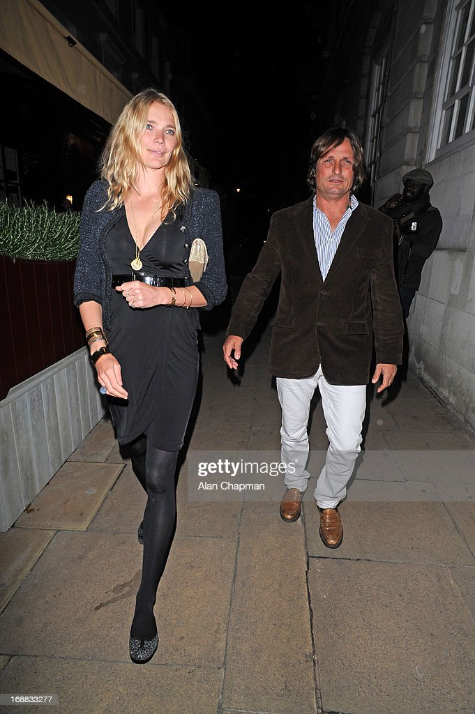 <a gi-track='captionPersonalityLinkClicked' href=/galleries/search?phrase=Jodie+Kidd&family=editorial&specificpeople=178960 ng-click='$event.stopPropagation()'>Jodie Kidd</a> and Andrea Vianni sighting leaving Loulou's Mayfair on May 15, 2013 in London, England.