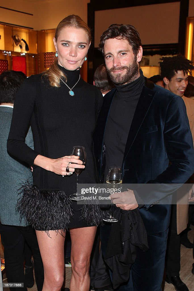 <a gi-track='captionPersonalityLinkClicked' href=/galleries/search?phrase=Jodie+Kidd&family=editorial&specificpeople=178960 ng-click='$event.stopPropagation()'>Jodie Kidd</a> and David Blakeley attend the launch of Louis Vuitton Townhouse at Selfridges on November 7, 2013 in London, England.