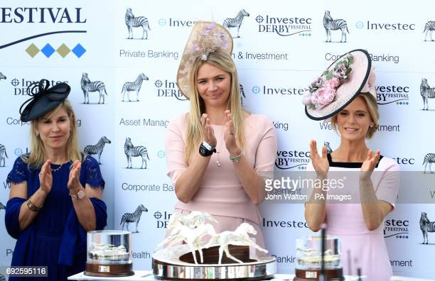 Jodie Kidd and Emilia Fox on Derby Day of the 2017 Investec Epsom Derby Festival