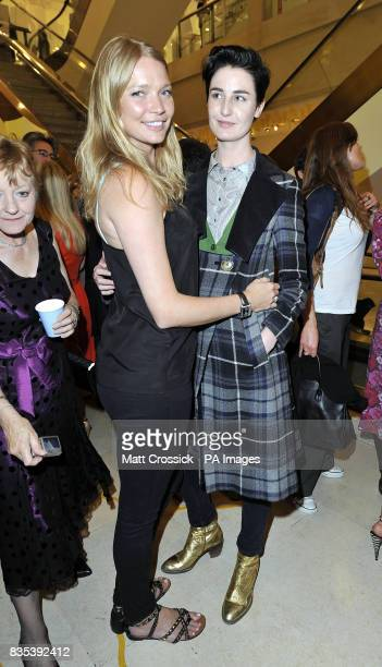 Jodie Kidd and Erin O'Connor attending Selfridges Big Yellow Festival launch party held at the store in Oxford Street London to celebrate Selfridge's...