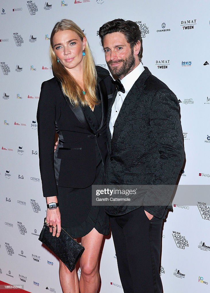 Jodie Kidd and guest attend the WGSN Global Fahsion awards at Victoria & Albert Museum on October 30, 2013 in London, England.