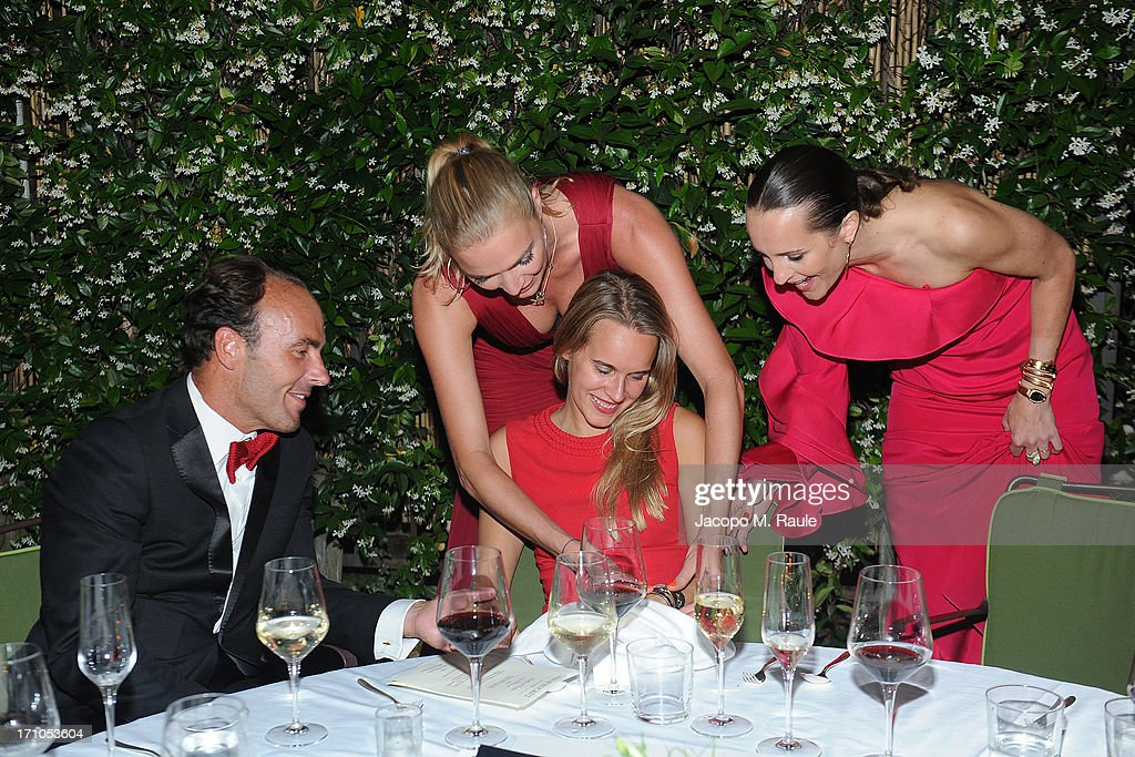 Jodie Kidd and Julie Brangstrup attend Cash & Rocket On Tour Women for Women - Gala Dinner and Auction on June 16, 2013 in Rome, Italy.