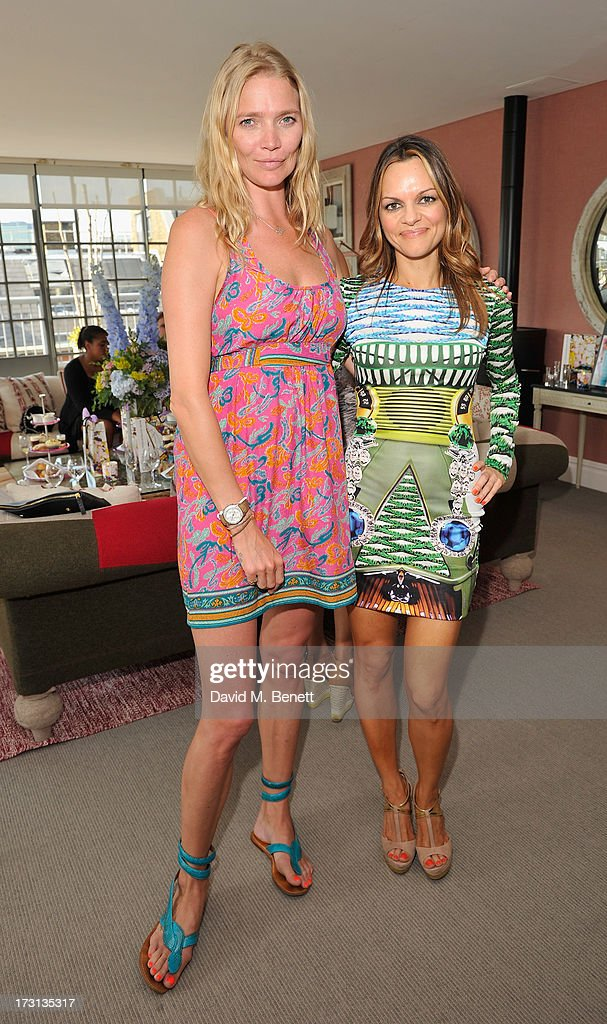 Jodie Kidd and Maria Hatzistefanis attends Mary Katrantzou for Rodial candle launch party at Soho Hotel on July 8, 2013 in London, England.