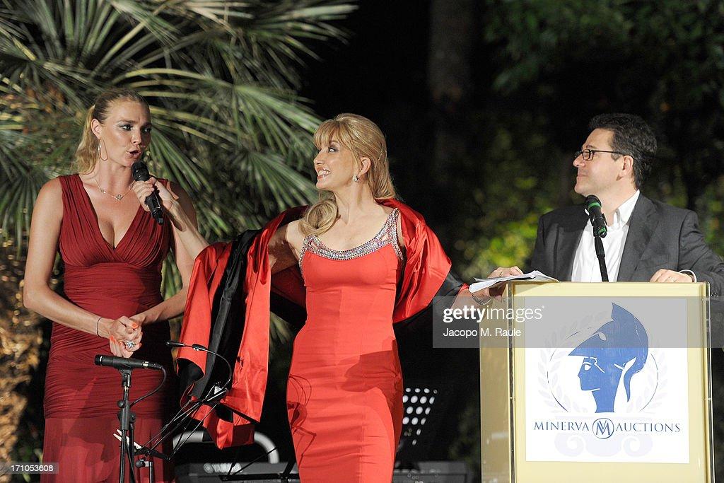 Jodie Kidd and Milly Carlucci attend Cash & Rocket On Tour Women for Women - Gala Dinner and Auction on June 16, 2013 in Rome, Italy.