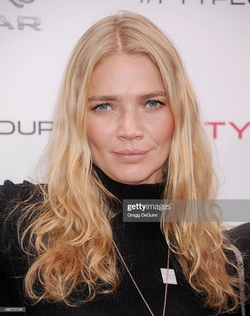 Jodie Kidd arrives at the Jaguar F-TYPE Coupe launch party at Raleigh Studios on November 19, 2013 in Playa Vista, California.