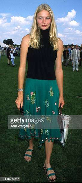 Jodie Kidd at Cartier Polo during Jodie Kidd at Cartier Polo July 30th 2000 in Windsor Great Britain