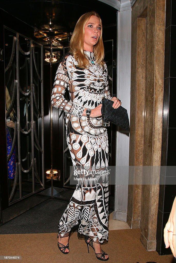 Jodie Kidd attending the Harper's Bazaar Women of the Year Awards on November 5, 2013 in London, England.