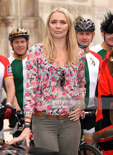 Jodie Kidd attends a photocall to support fifteen sailors from the Royal Navy's future flagship aircraft carrier 'HMS Queen Elizabeth' who arrived...