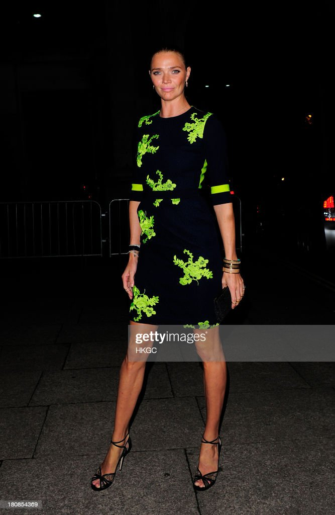 Jodie Kidd attends an evening to celebrate The Global Fund hosted by the Earl and Countess of Mornington, Anna Wintour, Livia Firth and Natalie Massenet at Apsley House on September 16, 2013 in London, England.