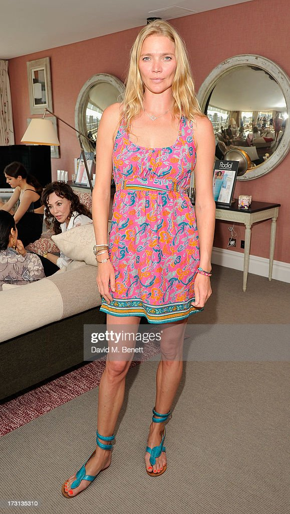 Jodie Kidd attends Mary Katrantzou for Rodial candle launch party at Soho Hotel on July 8, 2013 in London, England.