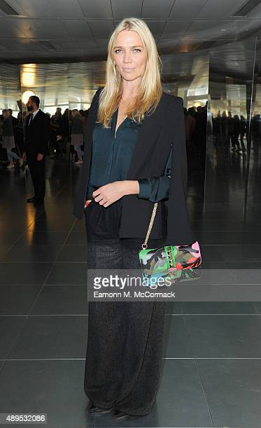 Jodie Kidd attends the Amanda Wakeley show during London Fashion Week Spring/Summer 2016 on September 22 2015 in London England