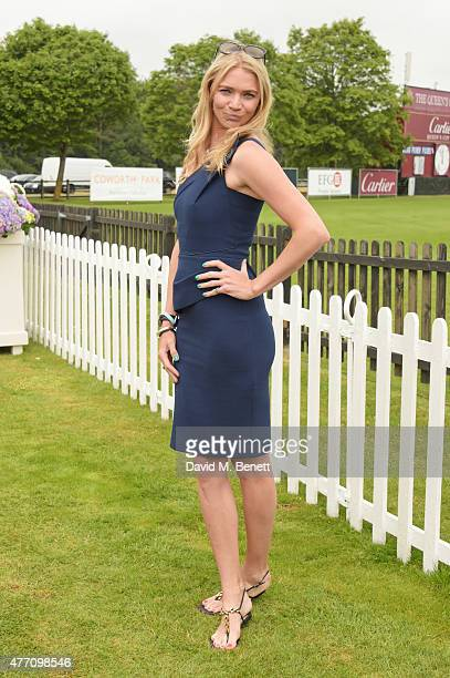 Jodie Kidd attends The Cartier Queen's Cup final at Guards Polo Club on June 14 2015 in Egham England