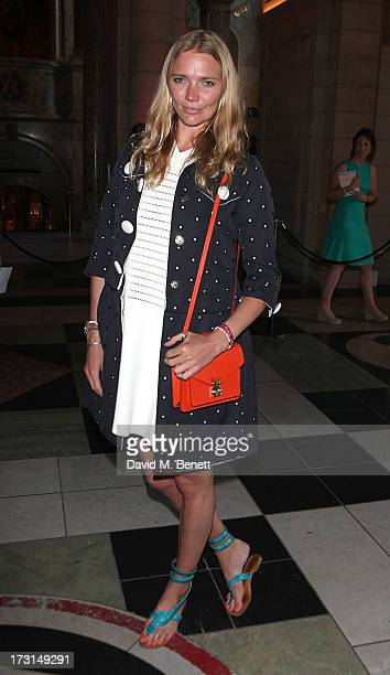 Jodie Kidd attends the Club To Catwalk London Fashion In The 1980's exhibition at Victoria Albert Museum on July 8 2013 in London England