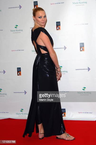 Jodie Kidd attends The Emeralds Ivy Ball hosted by Ronan Keating for Cancer Research UK sponsored by Anglo Irish Bank at The Old Billingsgate Fish...