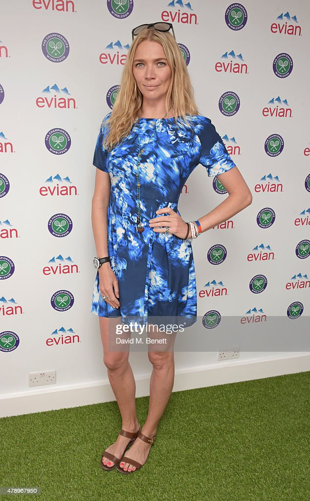 <a gi-track='captionPersonalityLinkClicked' href=/galleries/search?phrase=Jodie+Kidd&family=editorial&specificpeople=178960 ng-click='$event.stopPropagation()'>Jodie Kidd</a> attends the evian Live Young suite on the opening day of Wimbledon at the All England Lawn Tennis and Croquet Club on June 29, 2015 in London, England.