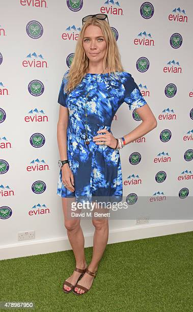 Jodie Kidd attends the evian Live Young suite on the opening day of Wimbledon at the All England Lawn Tennis and Croquet Club on June 29 2015 in...