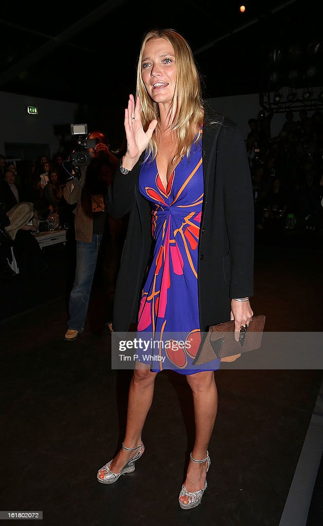 Jodie kidd attends the Issa London show during London Fashion Week Fall/Winter 2013/14 at Somerset House on February 16, 2013 in London, England.