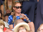 Jodie Kidd attends the Philipp Kohlschreiber v Novak Djokovic match on day one of the Wimbledon Tennis Championships on June 29 2015 in London England