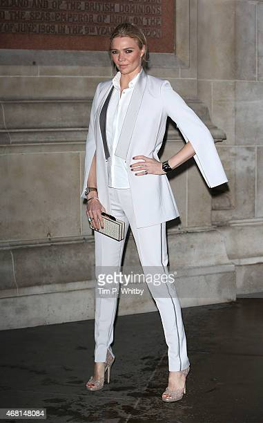Jodie Kidd attends the Samsung BlueHouse private view of the Alexander McQueen Savage Beauty exhibition at Victoria Albert Museum on March 30 2015 in...