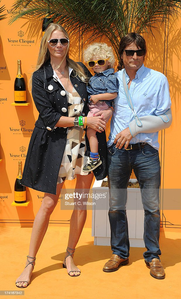 Jodie Kidd (L) attends the Veuve Clicquot Gold Cup final at Cowdray Park Polo Club on July 21, 2013 in Midhurst, England.