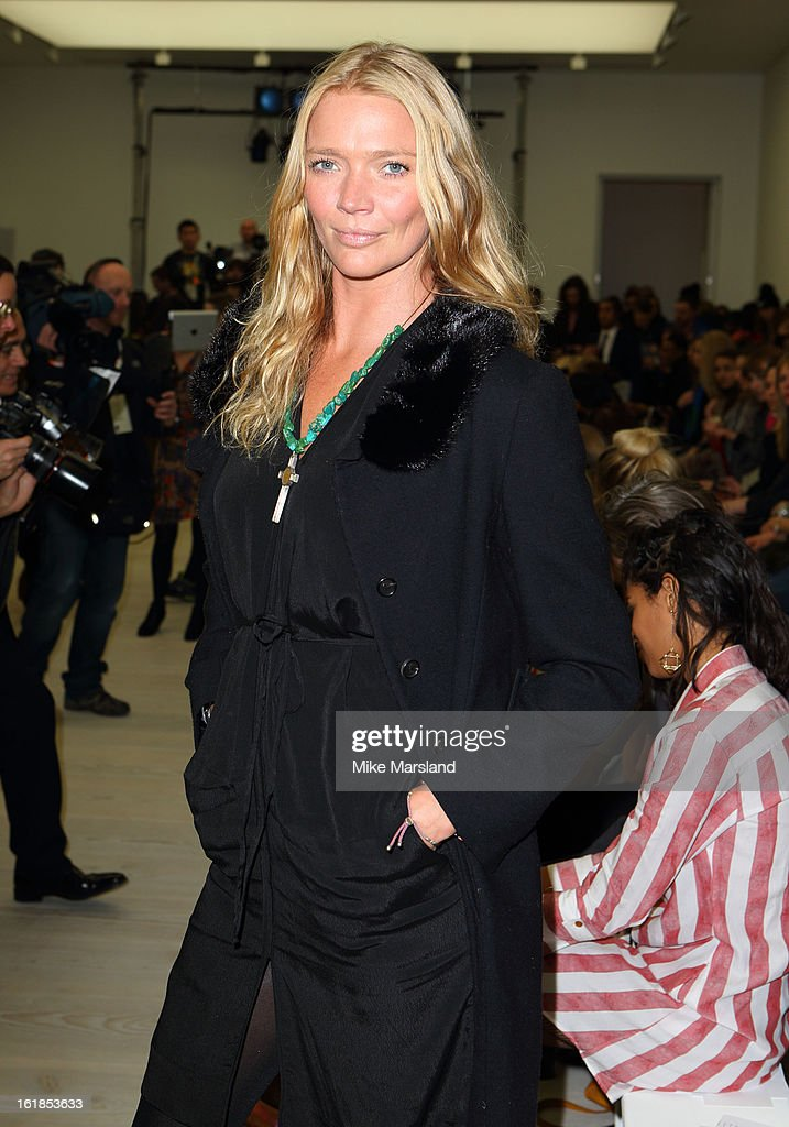 Jodie Kidd attends the Vivienne Westwood Red Label show during London Fashion Week Fall/Winter 2013/14 at on February 17, 2013 in London, England.