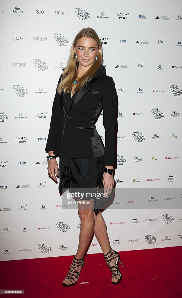<a gi-track='captionPersonalityLinkClicked' href=/galleries/search?phrase=Jodie+Kidd&family=editorial&specificpeople=178960 ng-click='$event.stopPropagation()'>Jodie Kidd</a> attends the WGSN Global Fahsion awards at Victoria & Albert Museum on October 30, 2013 in London, England.