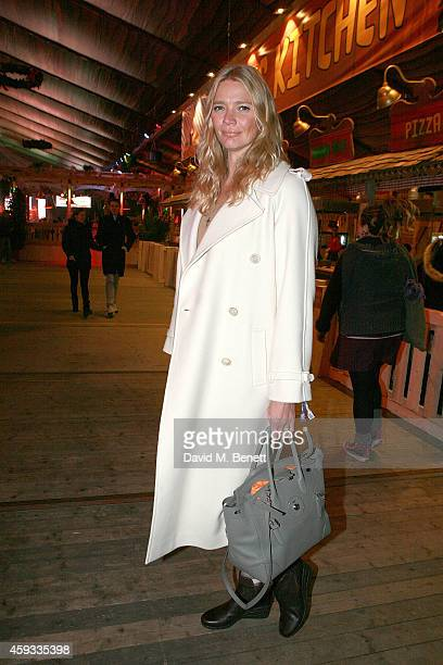 Jodie Kidd attends the Winter Wonderland VIP opening at Hyde Park on November 20 2014 in London England