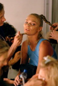 Jodie Kidd Backstage Getting Ready for the Tristan Webber Show