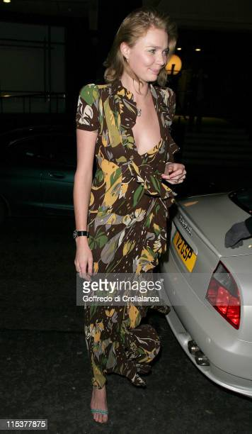 Jodie Kidd during ICM Models and New Vintage Oasis Party in London United Kingdom