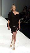 Jodie Kidd during London Fashion Week Spring 2005 Koshino Runway at BFC Tent in London Great Britain