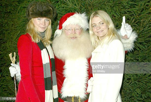 Jodie Kidd Gemma Kidd and Father Christmas during Jodie Kidd and Gemma Kidd Launch a Christmas Extravaganza in Aid of Great Ormond Street Hospital...
