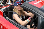 Jodie Kidd is seen driving a Lamborghini during the 68th annual Cannes Film Festival on May 19 2015 in Cannes France