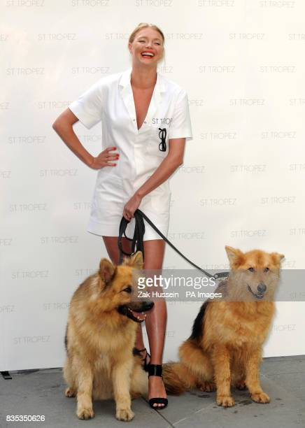 Jodie Kidd launches the St Tropez new odourless Aromaguard tan that goes undetected even by sniffer dogs at Boots on Oxford Street in central London
