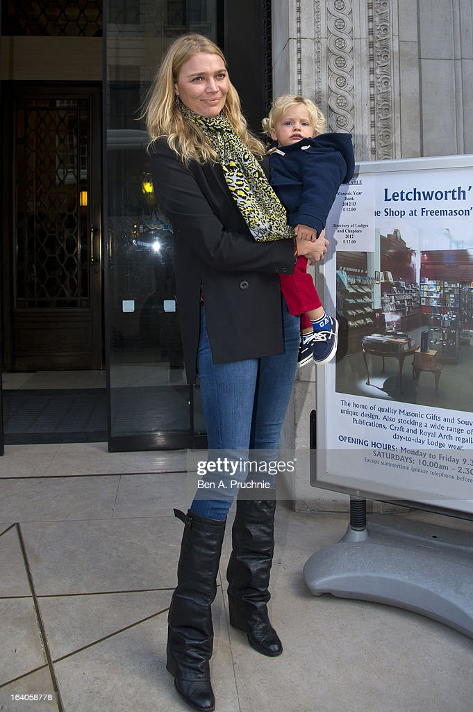 <a gi-track='captionPersonalityLinkClicked' href=/galleries/search?phrase=Jodie+Kidd&family=editorial&specificpeople=178960 ng-click='$event.stopPropagation()'>Jodie Kidd</a> sighted arriving at Global Kids Fashion Week at Freemasons' Hall on March 19, 2013 in London, England.